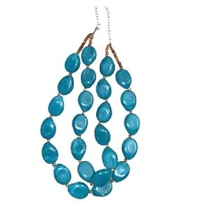 Jewelry - Urban Outfitters Blue Bead Necklace.
